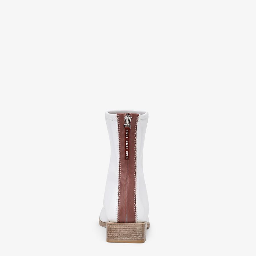 FENDI FFRAME - White glossy neoprene ankle boots - view 3 detail