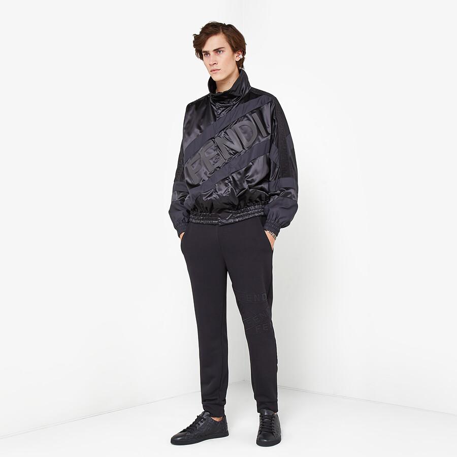 FENDI JACKET - Black tech satin jacket - view 4 detail