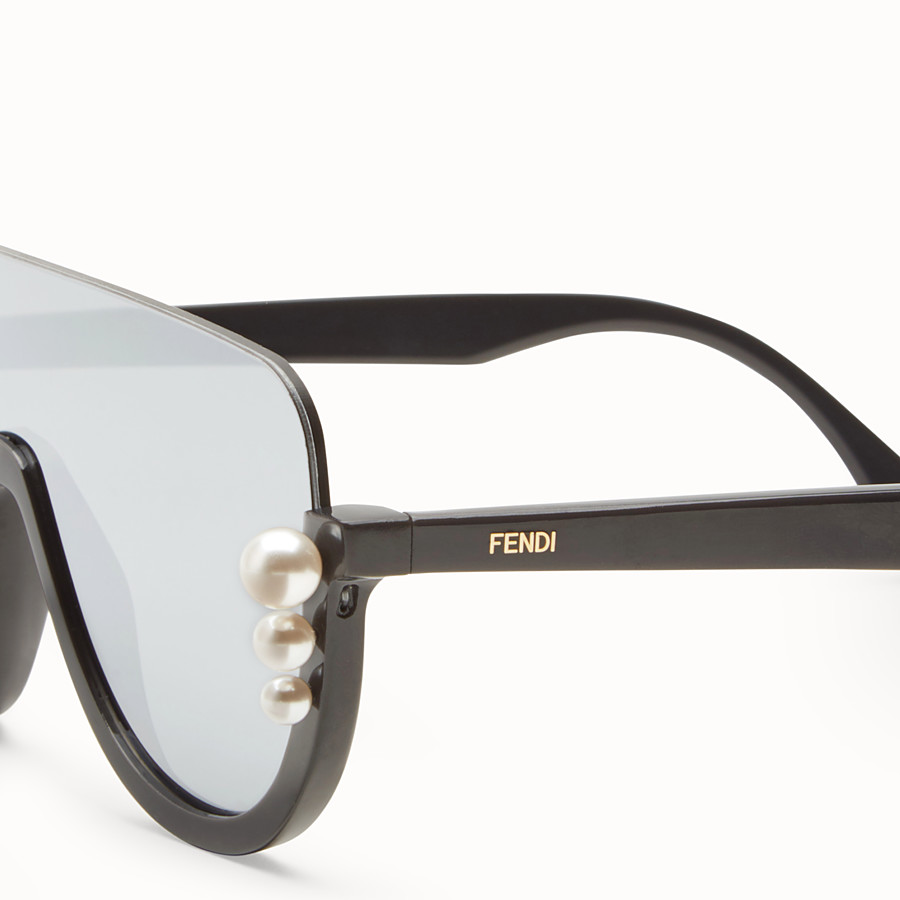 FENDI RIBBONS AND PEARLS - Gray sunglasses - view 3 detail