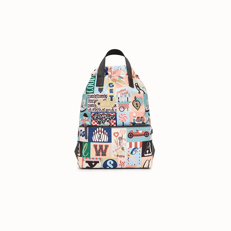 FENDI BABY BACKPACK - Multicolour canvas sack-style backpack - view 1 detail