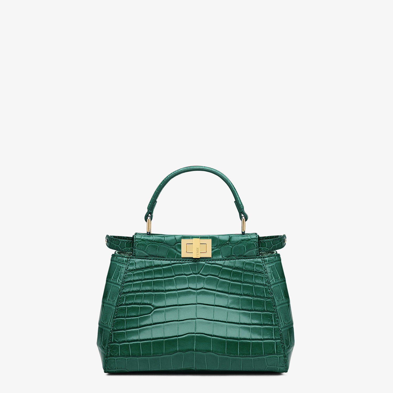 FENDI PEEKABOO MINI - Green crocodile handbag - view 1 detail