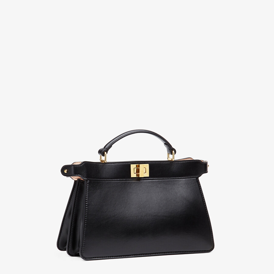 FENDI PEEKABOO ISEEU EAST-WEST - Black leather bag - view 3 detail