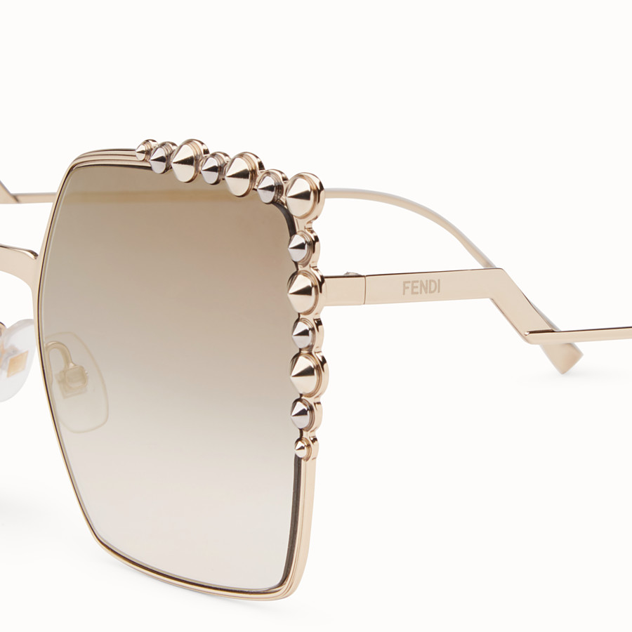 FENDI CAN EYE - Gold-colour sunglasses - view 3 detail