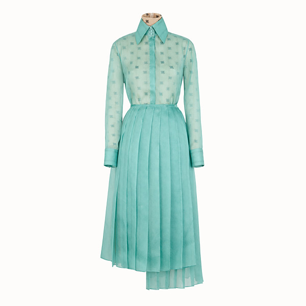 FENDI DRESS - Aqua green organza dress - view 1 small thumbnail