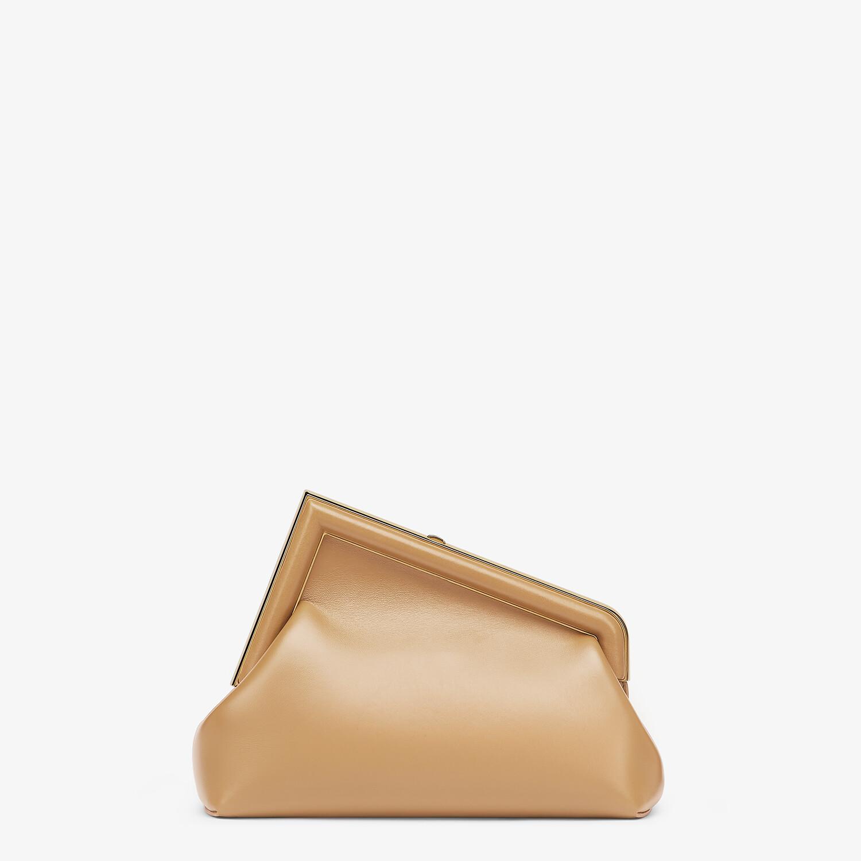 FENDI FENDI FIRST SMALL - Beige leather bag - view 3 detail