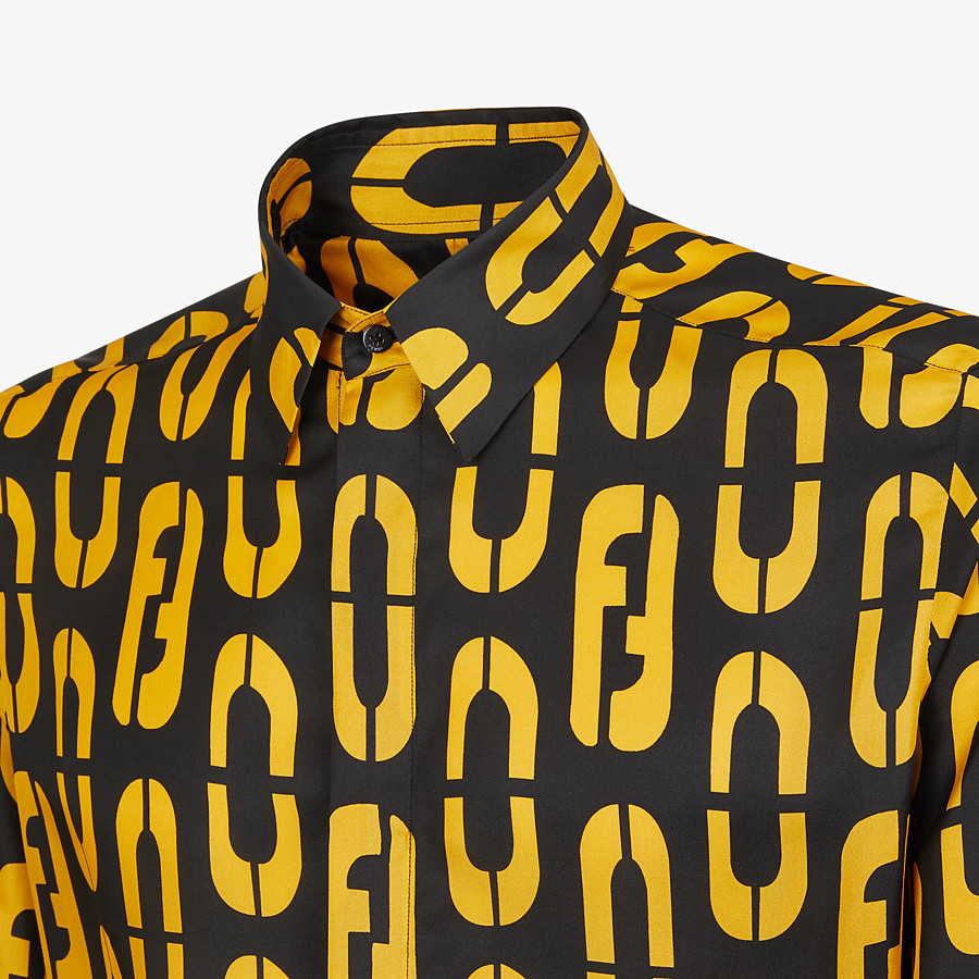 FENDI SHIRT - Multicolor silk shirt - view 3 detail