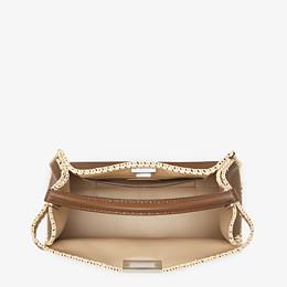 FENDI PEEKABOO X-LITE LARGE - Brown leather bag - view 6 thumbnail
