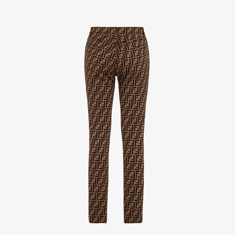 FENDI PANTS - Brown cotton jersey pants - view 2 detail