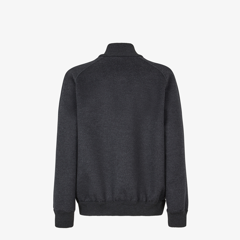 FENDI BOMBER JACKET - Grey wool jacket - view 2 detail