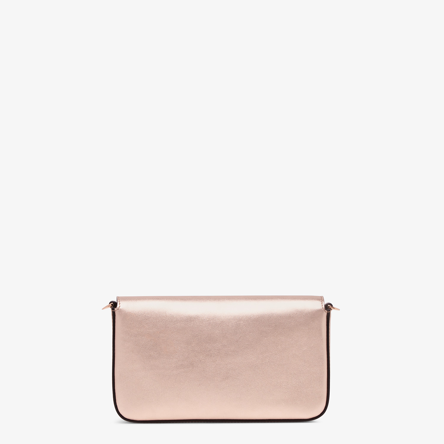 FENDI WALLET ON CHAIN WITH POUCHES - Pink leather mini-bag - view 4 detail