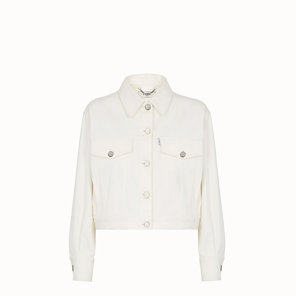 FENDI JACKET - White denim jacket - view 1 small thumbnail