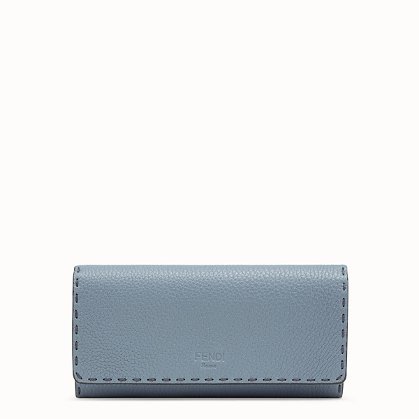 FENDI CONTINENTAL - Pale blue leather wallet - view 1 small thumbnail