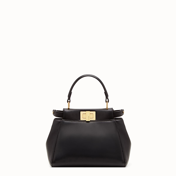 FENDI PEEKABOO ICONIC XS - Black nappa leather minibag - view 1 small thumbnail