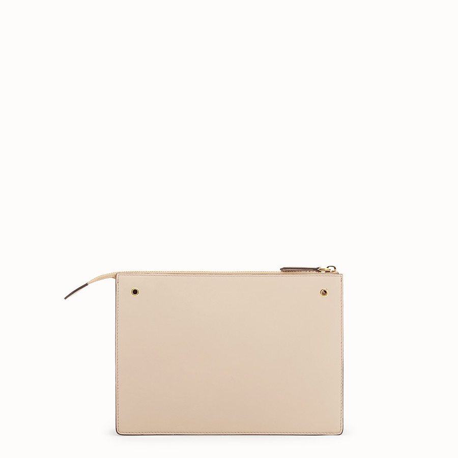 FENDI MINI POUCH - Beige leather mini-bag - view 3 detail