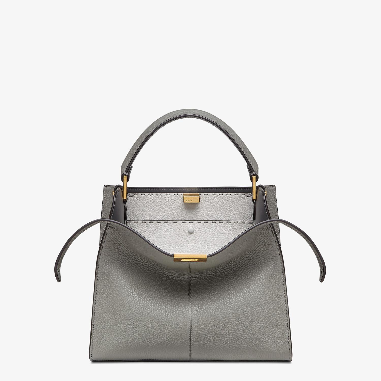 FENDI PEEKABOO X-LITE MEDIUM - Gray Cuoio Romano leather bag - view 1 detail