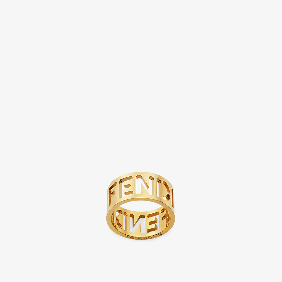 FENDI SIGNATURE RING - Gold-colored ring - view 1 detail