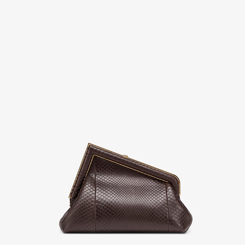 FENDI FENDI FIRST SMALL - Dark brown python leather bag - view 4 detail