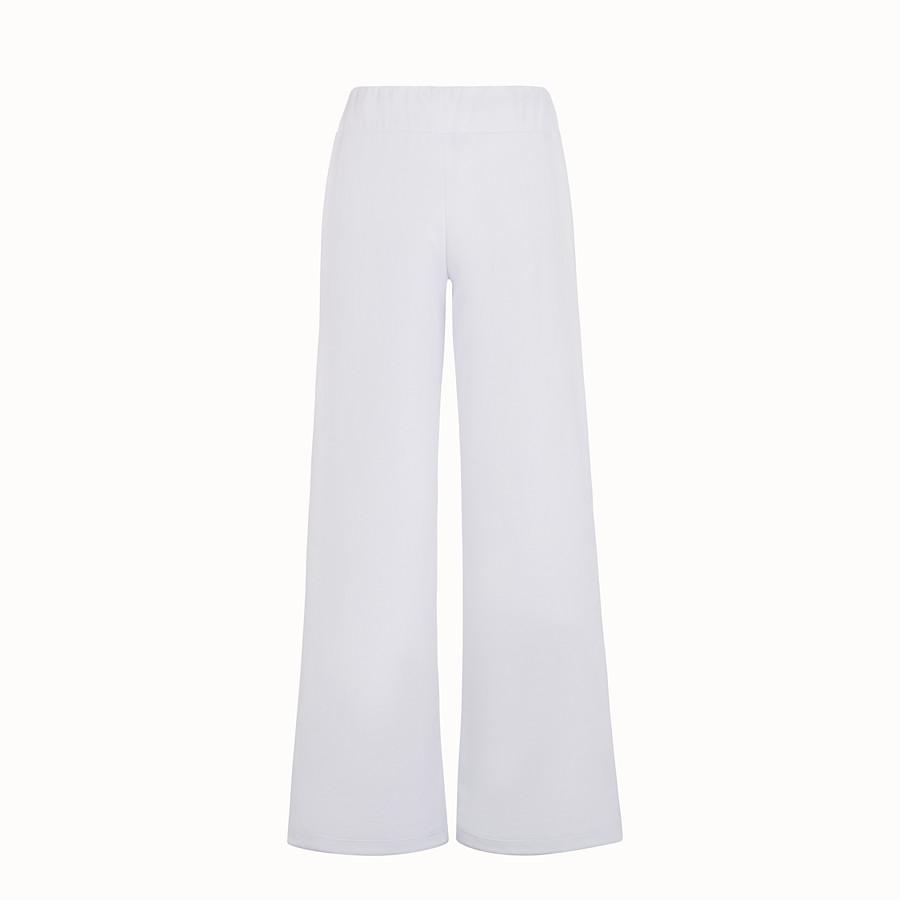 FENDI 長褲 - 白色針織運動長褲 - view 2 detail