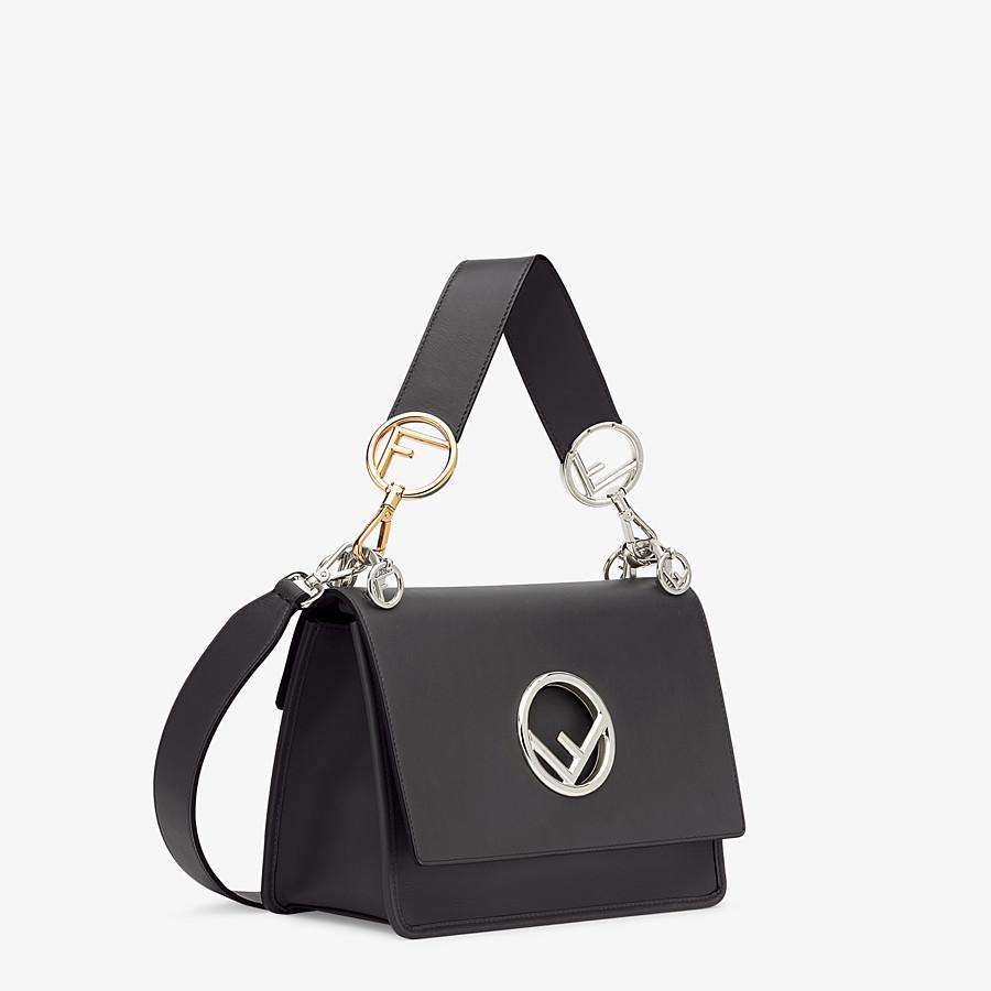 FENDI KAN I F - Black leather bag - view 3 detail