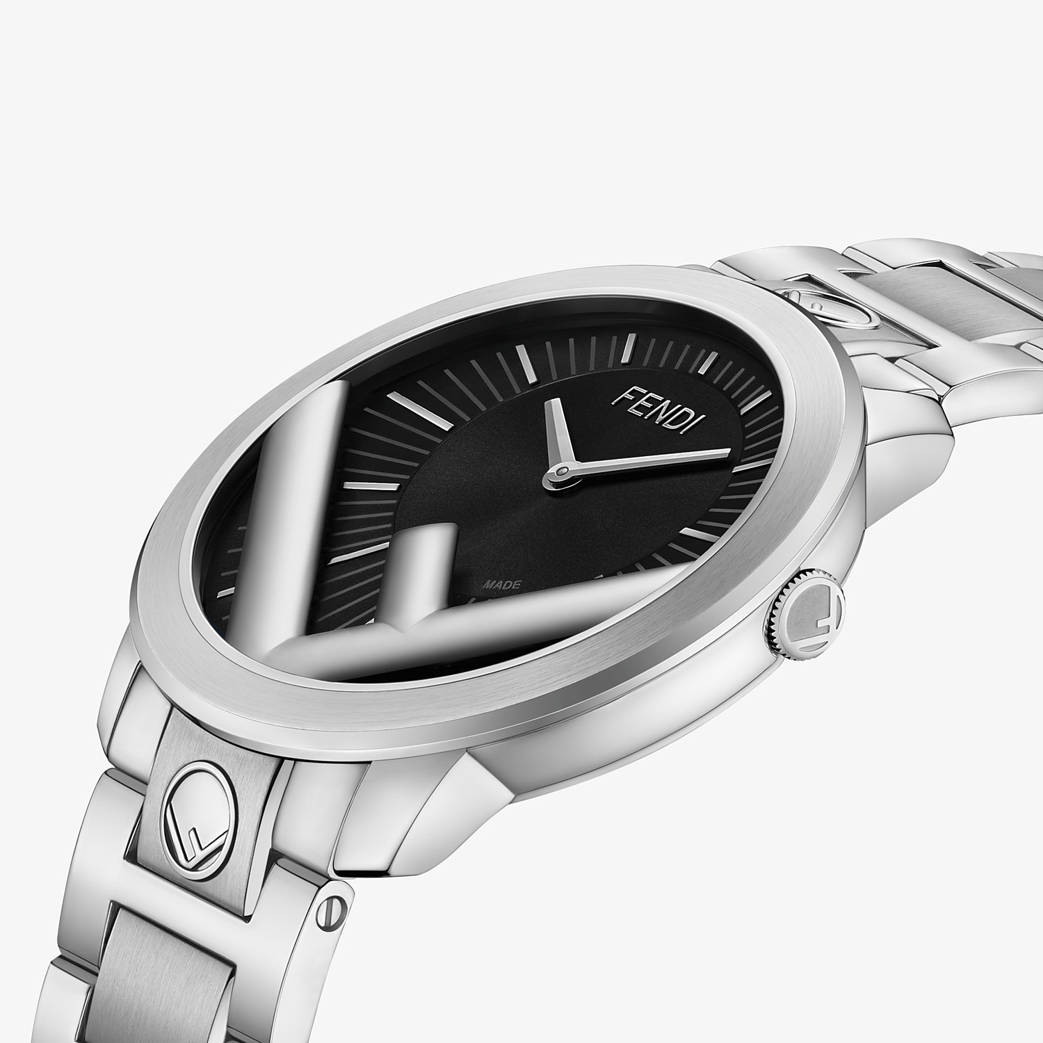 FENDI RUN AWAY - 41 mm (1.6 inch) - Watch with F is Fendi logo - view 3 detail
