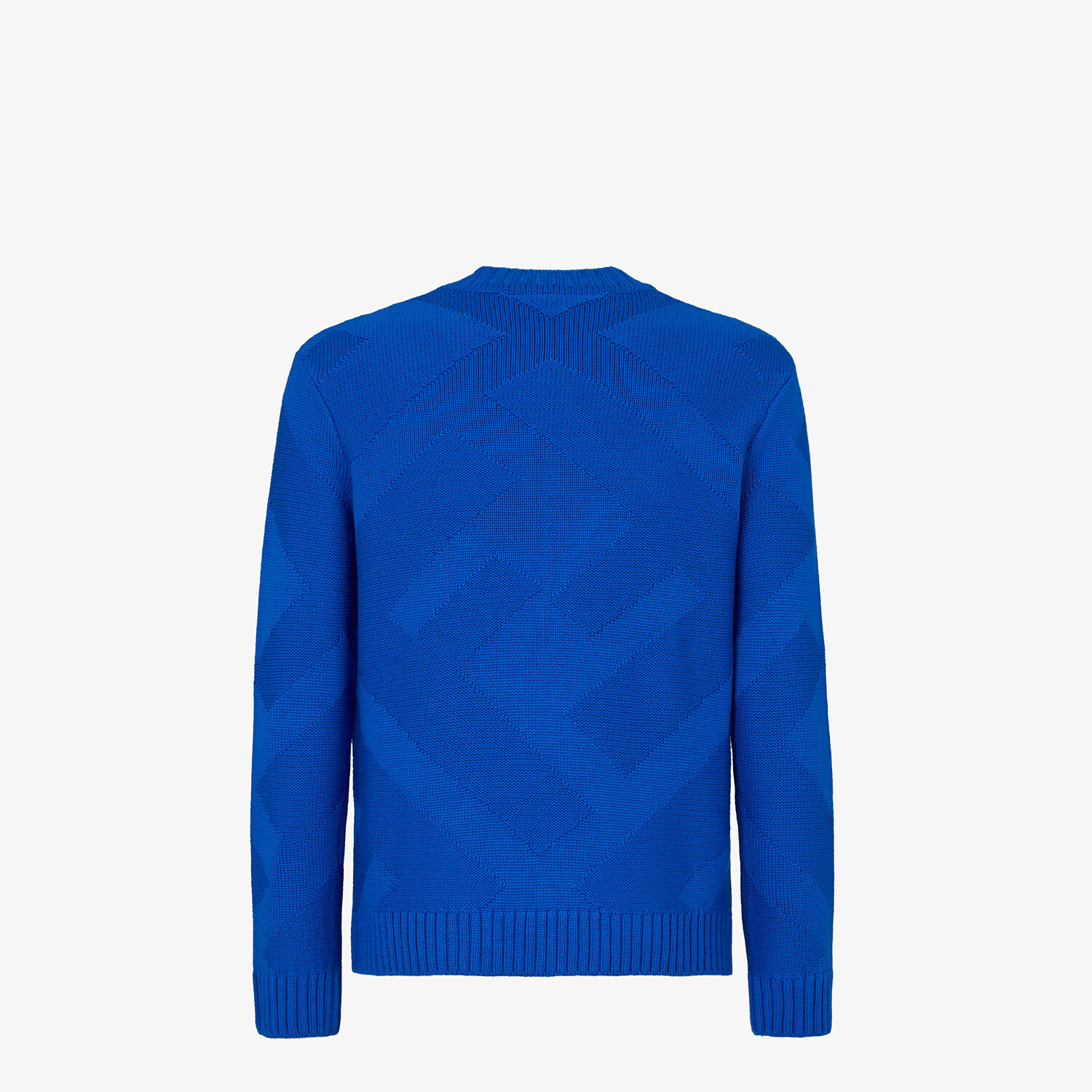FENDI PULLOVER - Blue wool pullover - view 2 detail