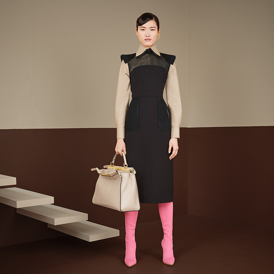 FENDI DRESS - Black gabardine dress - view 4 detail