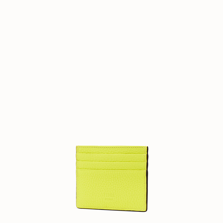 FENDI CARD HOLDER - Yellow Romano leather card holder - view 2 detail