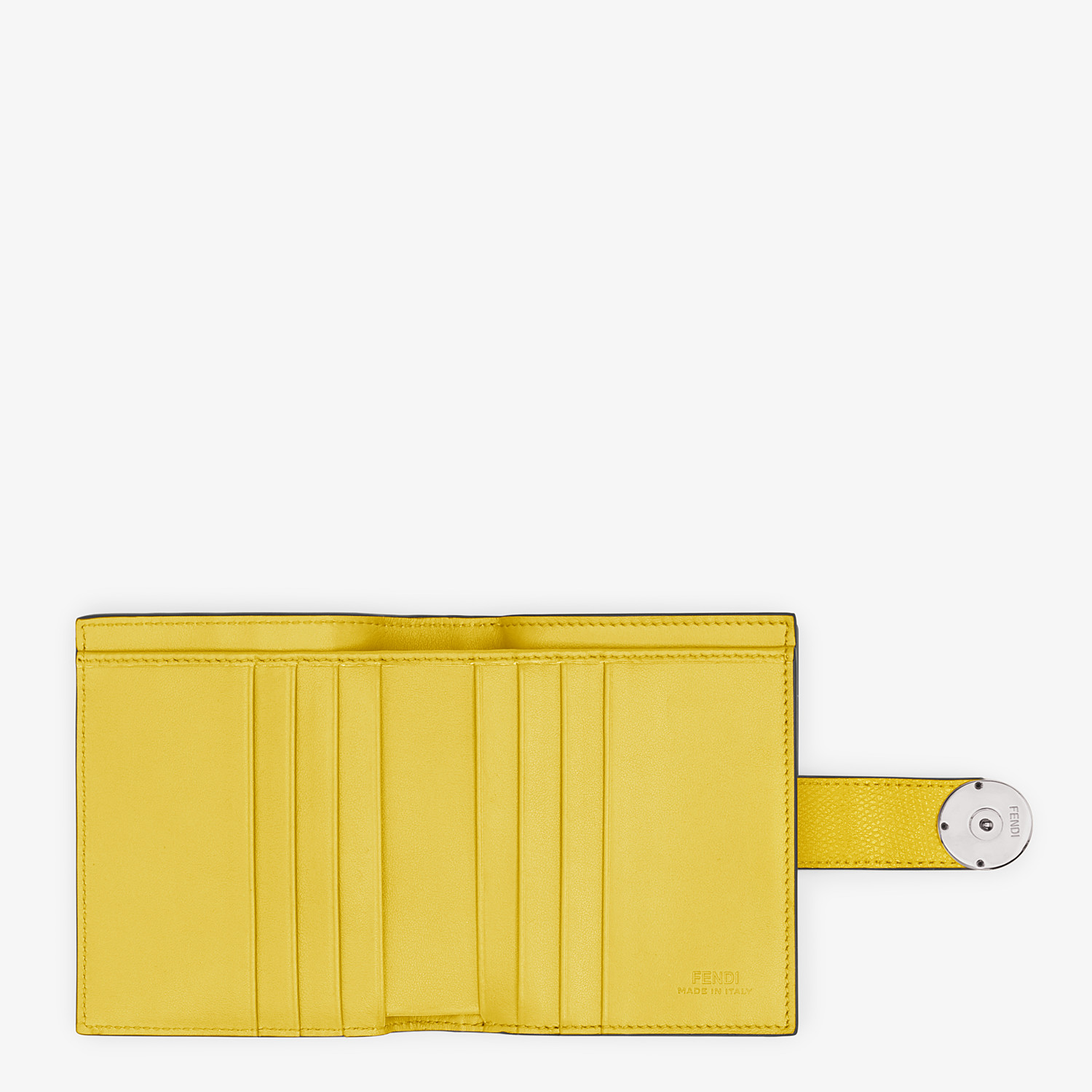 FENDI BIFOLD - Compact, yellow leather wallet - view 5 detail