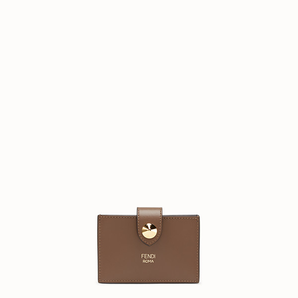 FENDI CARD HOLDER - Multicolour leather gusseted card holder - view 1 small thumbnail