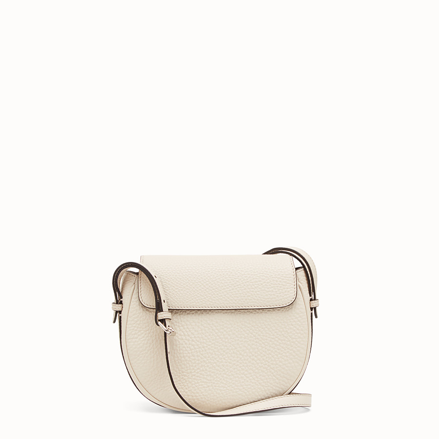 FENDI SHOULDER BAG - White leather bag - view 3 detail
