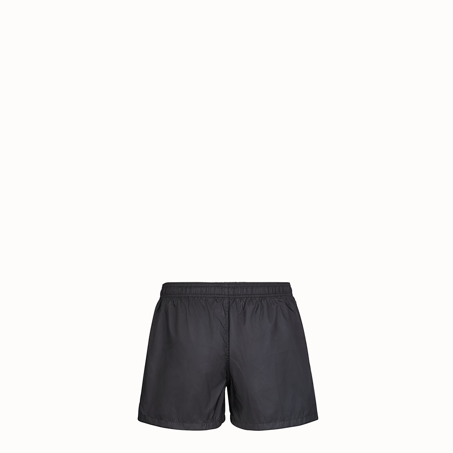 FENDI SWIM SHORTS - Black tech fabric shorts - view 2 detail