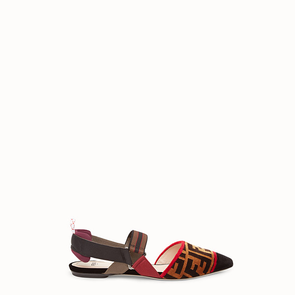 FENDI SABOT - Sabot in tessuto multicolor - vista 1 thumbnail piccola