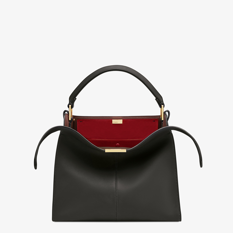 FENDI PEEKABOO X-LITE MEDIUM - Black leather bag - view 1 detail