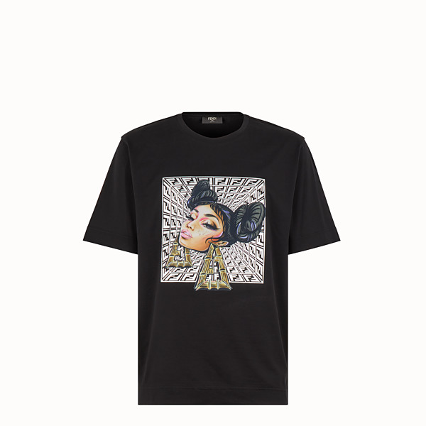 FENDI T-SHIRT - Fendi Prints On cotton T-shirt - view 1 small thumbnail