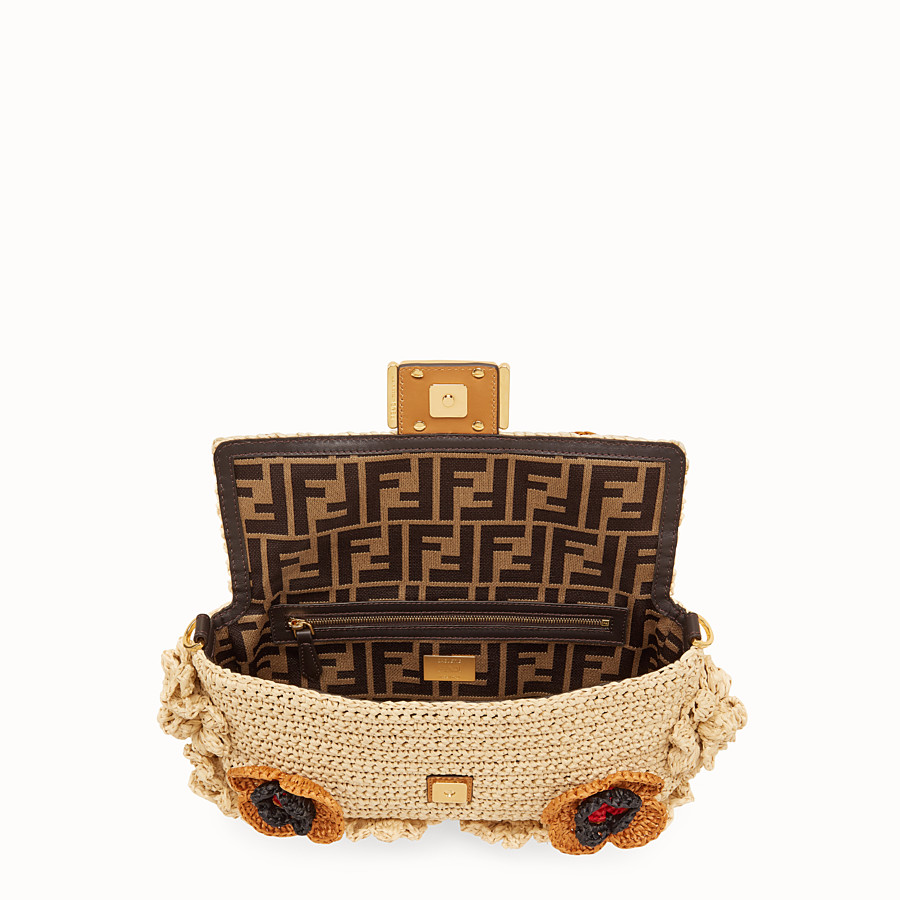 FENDI BAGUETTE - Multicolour raffia bag - view 4 detail