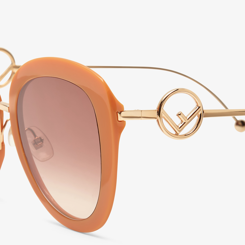 FENDI F IS FENDI - Orange acetate and metal sunglasses - view 3 detail