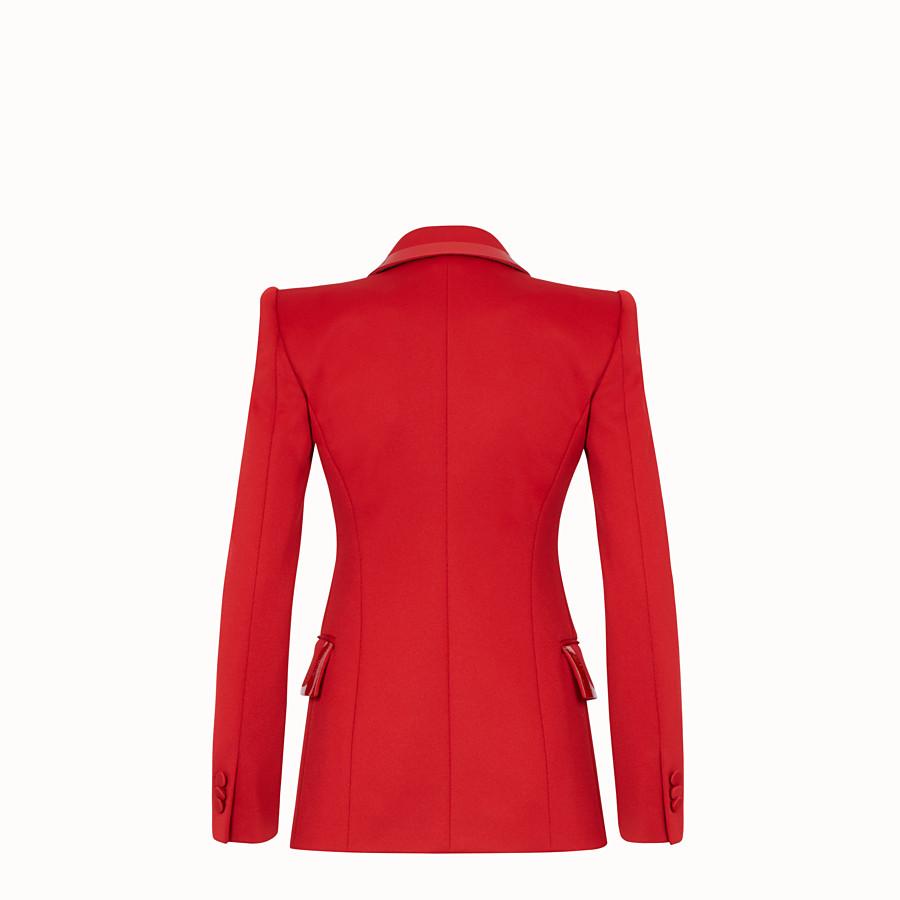 FENDI JACKET - Red piqué blazer - view 2 detail