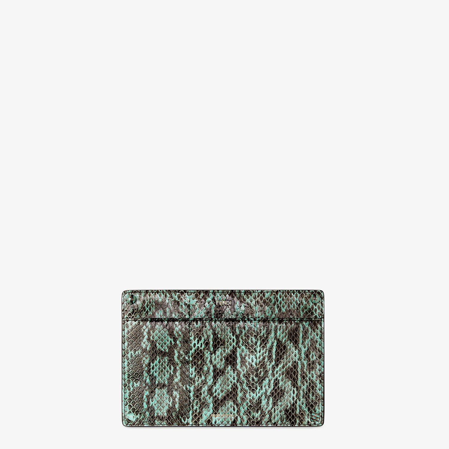 FENDI PEEKABOO POCKET - Accessory pocket in green elaphe - view 1 detail