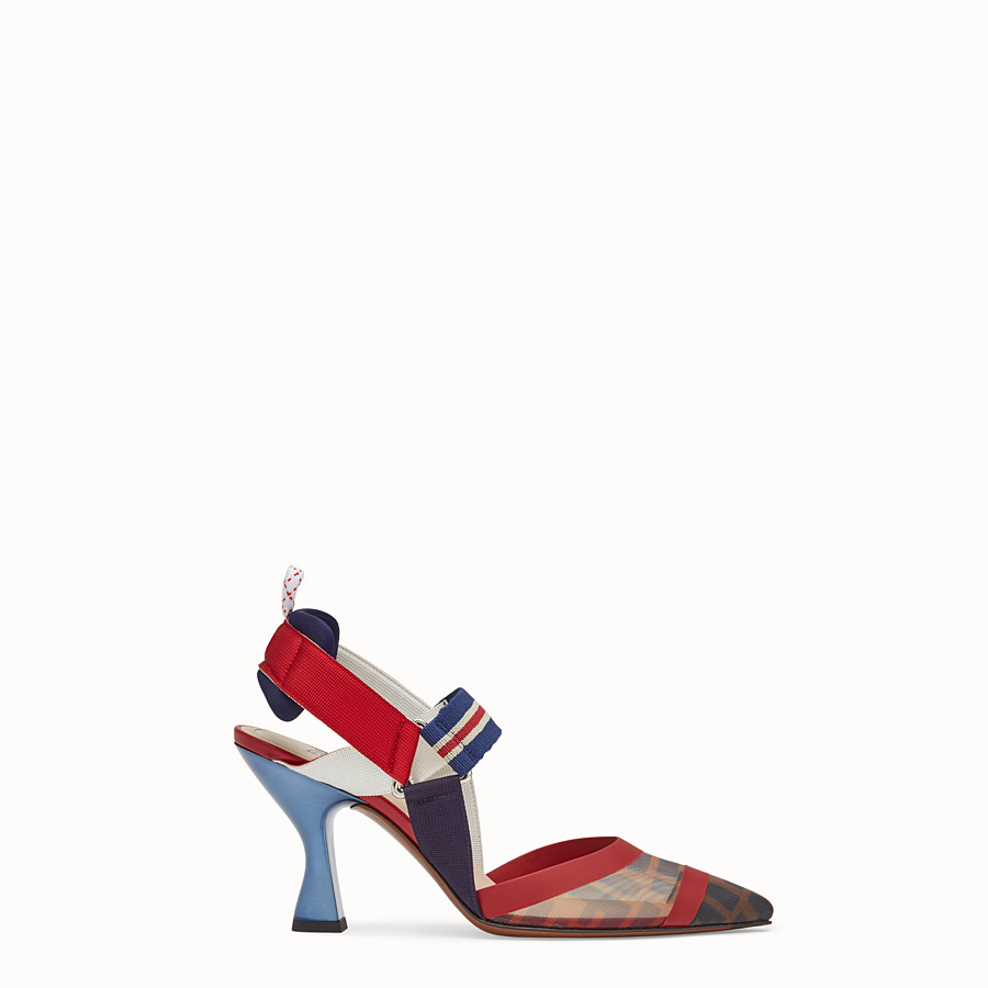 FENDI SLINGBACKS - Multicolor technical-mesh Colibrì - view 1 detail