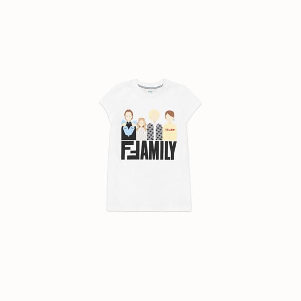 FENDI T-SHIRT - T-Shirt aus Jersey in Weiß - view 1 small thumbnail