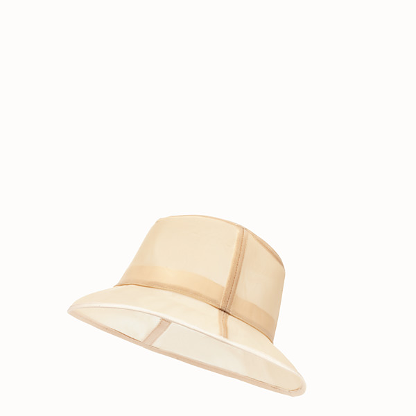 FENDI CHAPEAU - Chapeau en micro-filet beige - view 1 small thumbnail