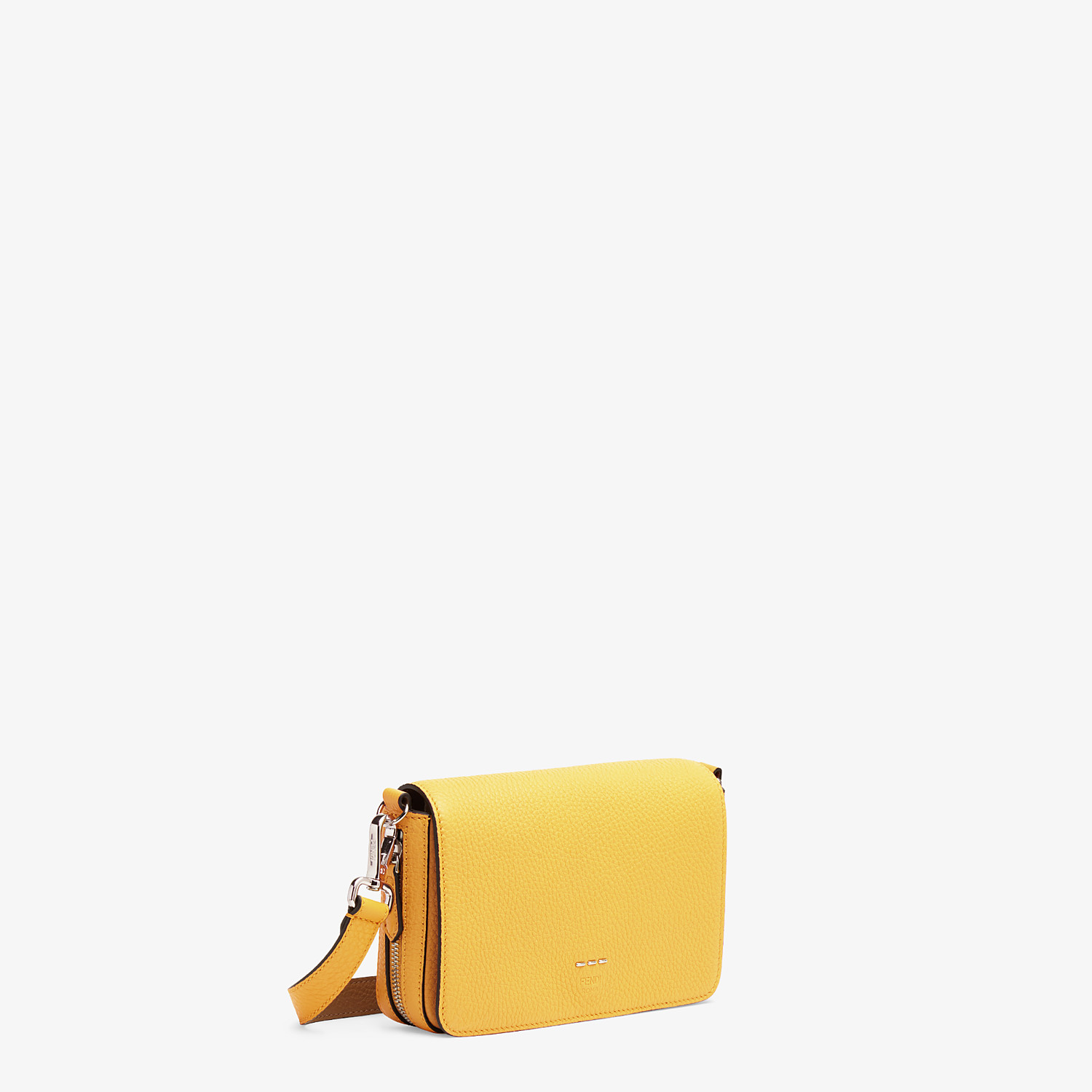 FENDI FLAP BAG - Yellow leather bag - view 2 detail