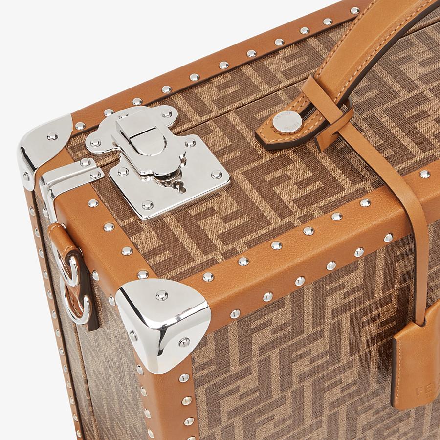 FENDI RIGID SUITCASE MEDIUM - Brown fabric suitcase - view 5 detail