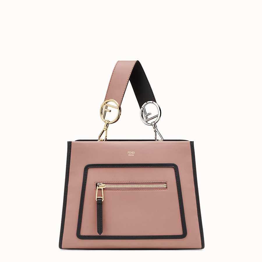 FENDI RUNAWAY SMALL - Pink leather bag - view 1 detail