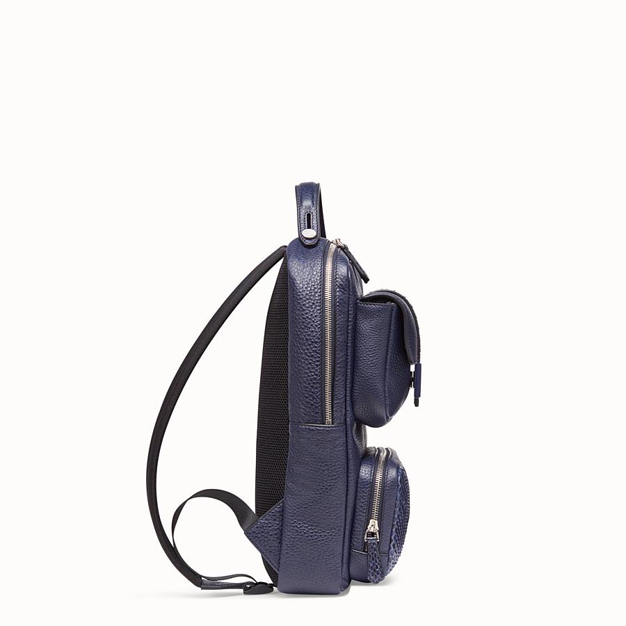 FENDI BACKPACK - Blue calf leather backpack - view 2 detail