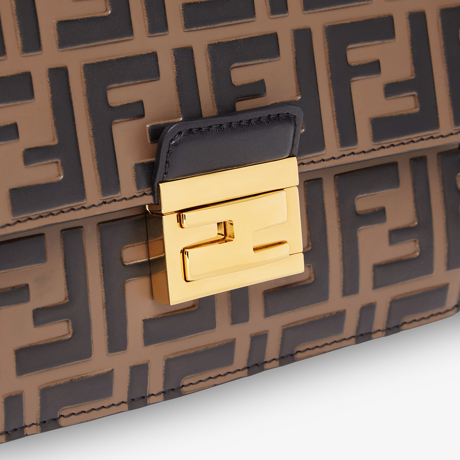 FENDI KAN U SMALL - Brown leather mini-bag - view 5 detail