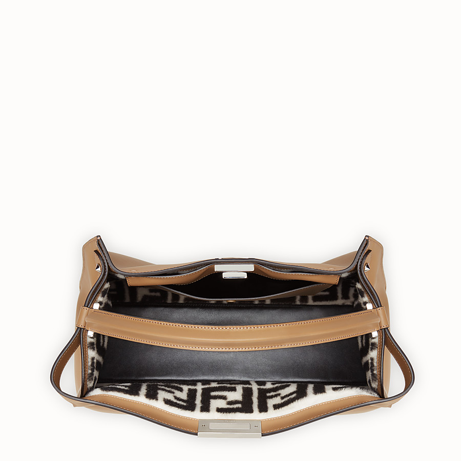 FENDI PEEKABOO X-LITE - Beige leather bag - view 5 detail