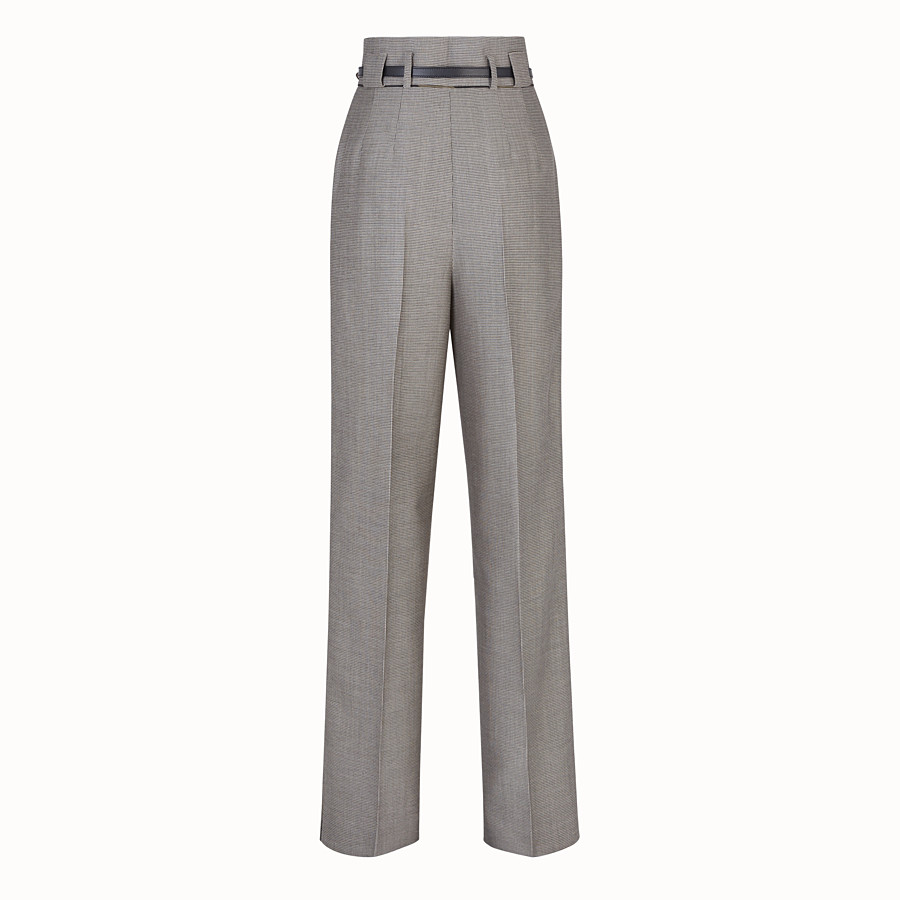 FENDI TROUSERS - Trousers in houndstooth wool - view 2 detail