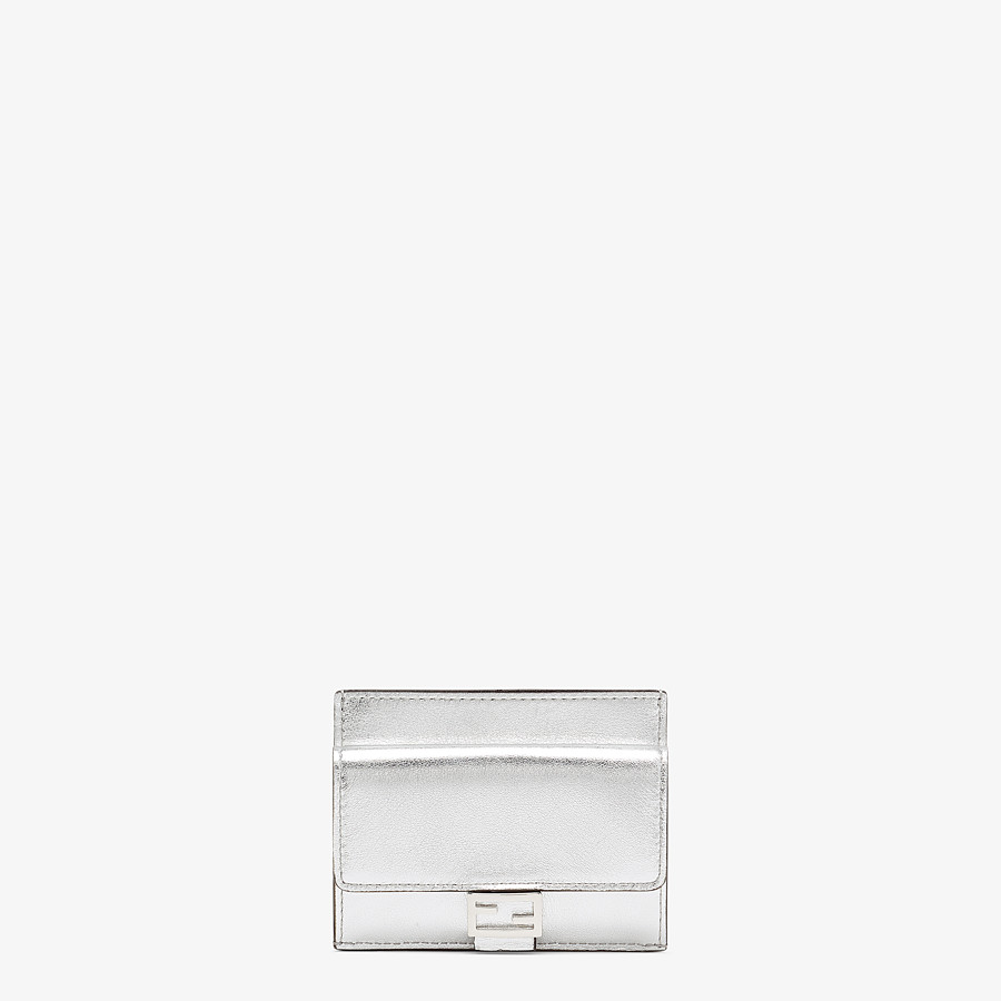 FENDI CARD HOLDER - Silver leather cardholder - view 1 detail