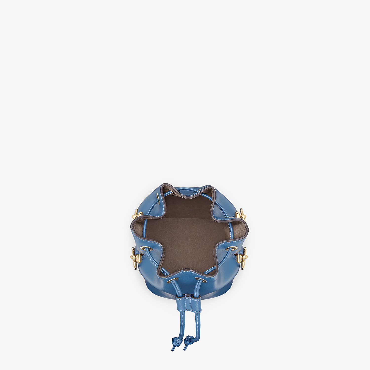 FENDI MON TRESOR - Blue leather mini-bag - view 4 detail